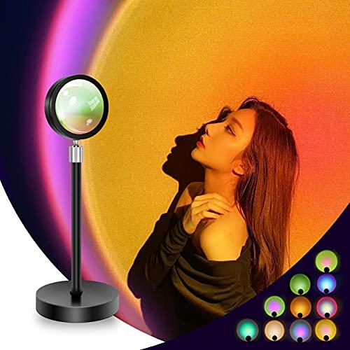 Sunset Lamp Projector Light, Multiple Colors Modern Sunrise...
