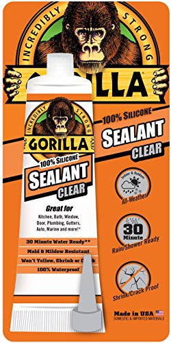 Gorilla 8090001 2.8 Ounce Squeeze Tube Clear Silicone...