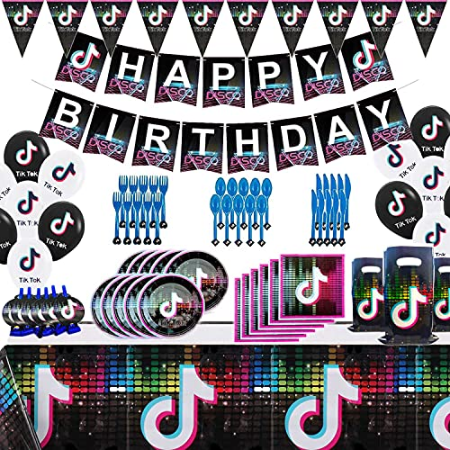Set of 112Pcs Tik Tok Party Decorations and Birthday...