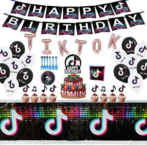 113PCS TikTok Party Decorations, TIKTok Party Supplies for...