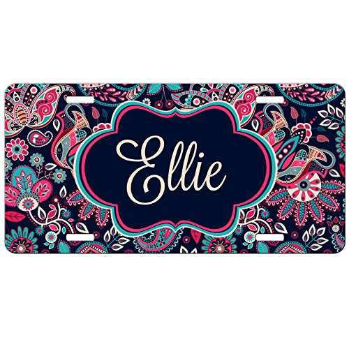 Simply Customized Personalized License Plate Monogram Floral...