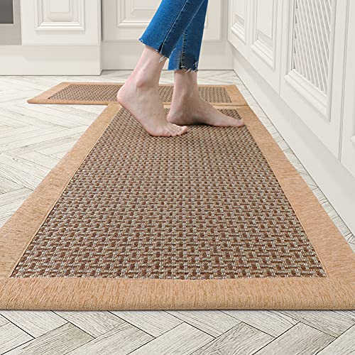 Kitchen Rugs and Mats Non Skid Washable, Absorbent Rug for...