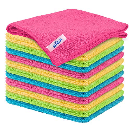 MR.SIGA Microfiber Cleaning Cloth,Pack of 12,Size:12.6' x...