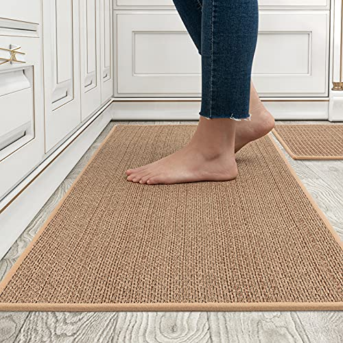 MontVoo Kitchen Rugs and Mats Washable [2 PCS] Non-Skid...