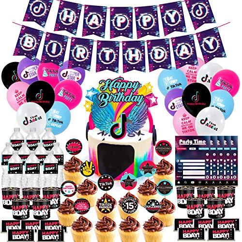 Nelton Birthday Party Supplies For TikTok Includes Banner -...