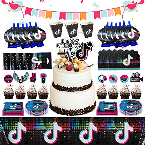 217pcs TIK Tok Party Decorations Birthday Party Supplies TIK...